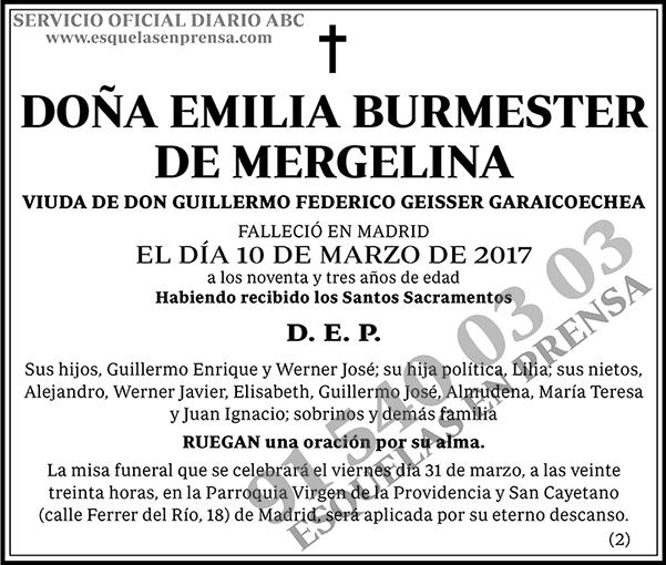 Emilia Burmester de Mergelina